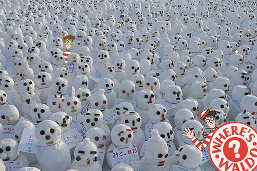 where's waldo pupazzi neve